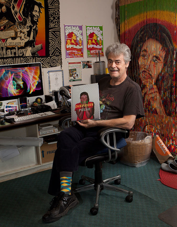 "bwgp:  I was so honored to donate one of my books to Roger Steffens' reggae collection yesterday.  What an amazing guy!  Every time I hang out with him I am inspired.   Here's the intro to his Wikipedia page.  It doesn't do him or his collection justice but… Roger Steffens (born June 17, 1942) is a Brooklyn, New York born actor, author, lecturer, editor, reggae archivist, photographer, producer. Roger is perhaps best known for his reggaearchives, in particular his archives of Bob Marley. Six rooms of his home in Los Angeles house his archives, which include the world's largest collection of Bob Marley material. Based on these archives Roger lectures internationally with a multi-media presentation called ""The Life of Bob Marley"". Roger's radio career began in New York in 1961, and was co-host of the award-winning Reggae Beat on KCRW in Los Angeles and was syndicated on 130 stations worldwide in the 1980s. Roger has two children, Kate and Devon."