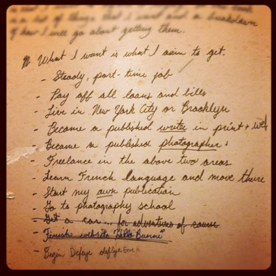 Life aspirations have a funny way of realizing themselves… This is a #list of #goals I wrote two years ago… 7 outta 12 #nice gotta update tho and #keepgoing!!!!!
