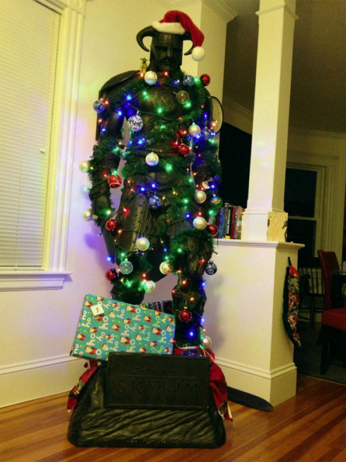 This Skyrim Dragonborn Nord Christmas tree wins all of Christmas forever Made by Redditor Lanarchy