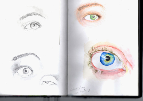 Drew some eyes, found my scanner's a biatch. Also eyelashes. I need to praaaaatice!