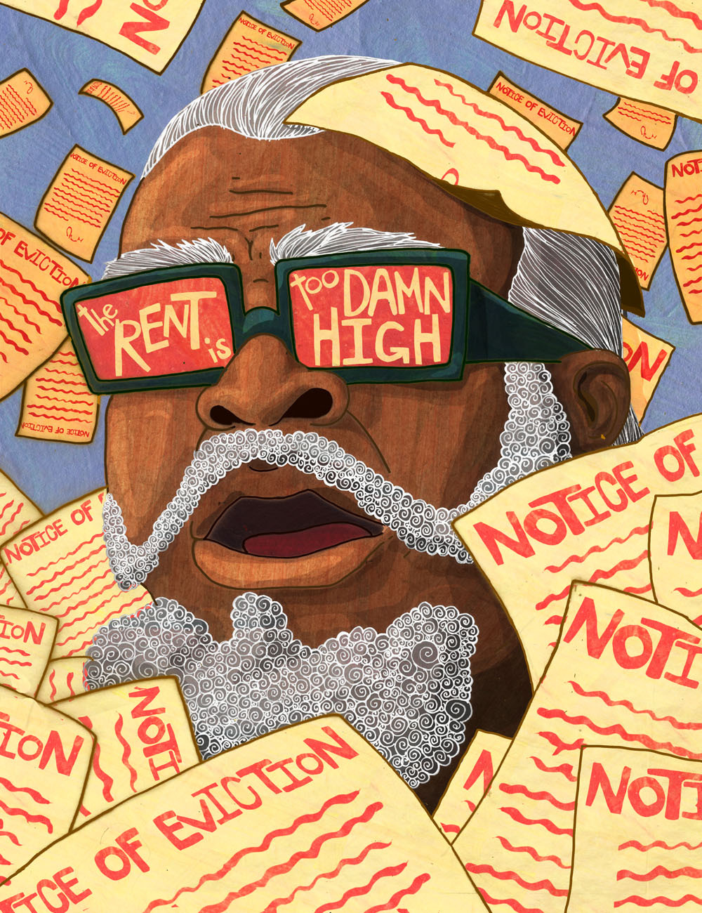 A political portrait I did of Jimmy Mcmillan