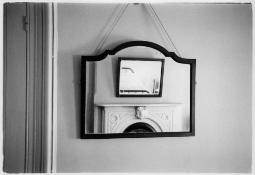 proustitute:  William Gedney, View of a Bedroom in Two Mirrors, c. 1954-59 (via mpdrolet)