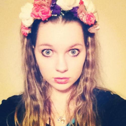 Created my own floral head piece. Inspired by the amazing miss Lana Del Rey.