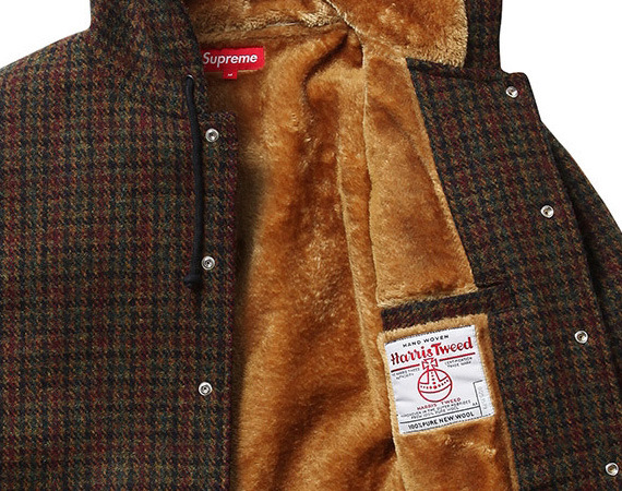 SUPREME X HARRIS TWEED – WOOL HOODED COACHES JACKET