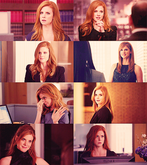 montechairlo:  suits picspam donna paulsen  → i'm sorry i don't have a photographic memory, but my brain is already too busy being awesome