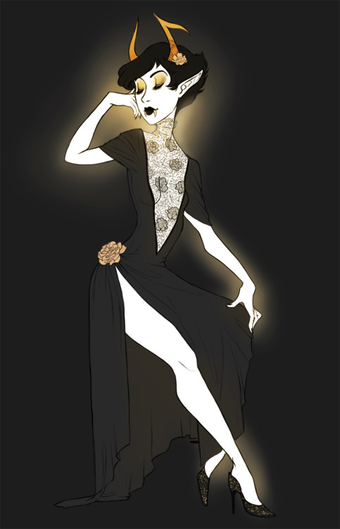 runesby:  yoccu:  i felt like it was time to draw kanaya in a fancy dress experimenting with a little more stylization in the anatomy P:  so beautiful!