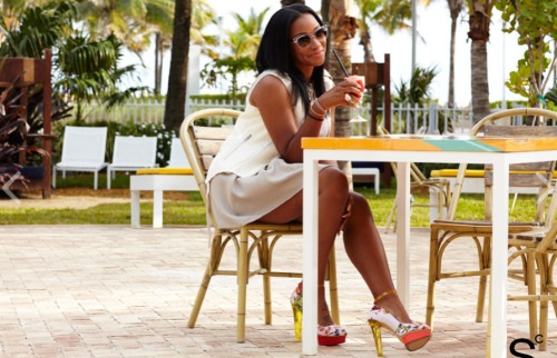 Lebron's fiancée Savannah Brinson has stepped her style game up after leaving the suburbs of Cleveland for the beaches of Miami.  Her transformation has made her one of the best-dressed among the NBA Wives and recently landed her a spot on StyleCaster's 20 Most Stylish in Miami list.