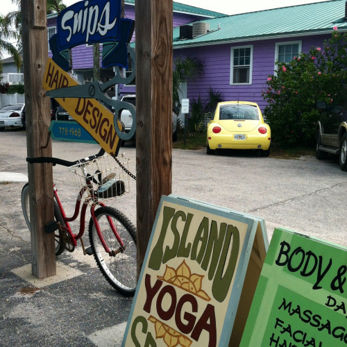Typography on the Island: hand painted signage on Anna Maria Island, Florida.