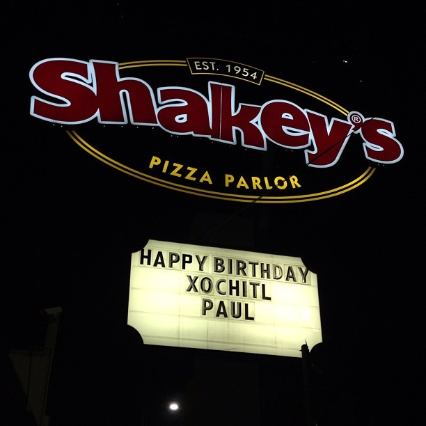 paulftompkins:  YAY PIZZA PARTY FOR MY BIRTHDAY & THE BIRTHDAY OF MY BEST FRIEND THE WINGED SERPENT WHO WILL DEVOUR NOT THE WORLD BUT ALL OF ITS PIZZA