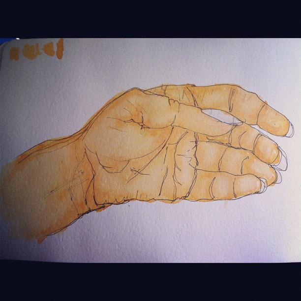 #drawdec day 7:hand on Flickr.