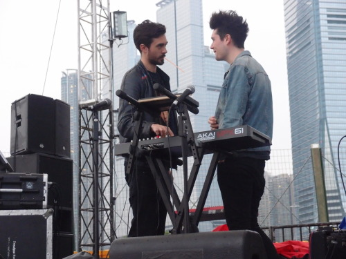 Dan and Kyle~ #Clockenflap @bastilledan