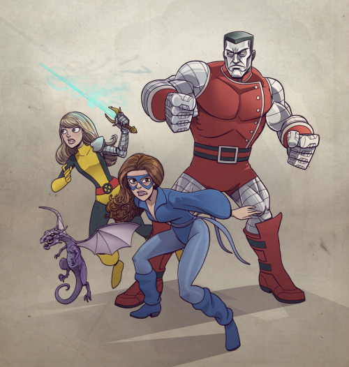 Colossus, Shadowcat and Magik by DC Miller