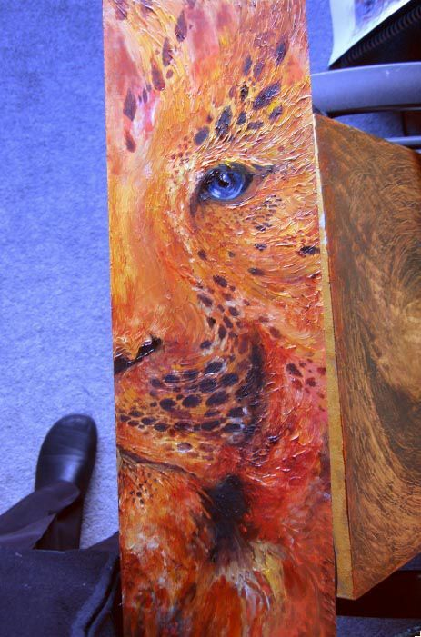 Leopard, Oil & Acrylic on MDF