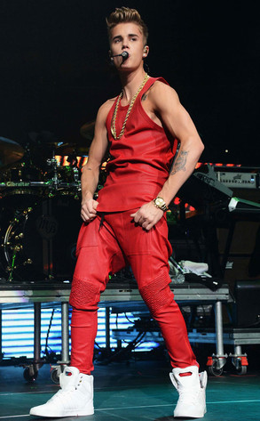 Errrrm, when did Bieber get all grown???  image: Jason Kempin/Getty Images for Jingle Ball 2012