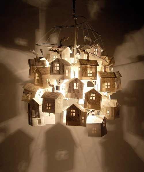 Paper House Lamp: Como un cuento visual para niños y adultos #Art #Design