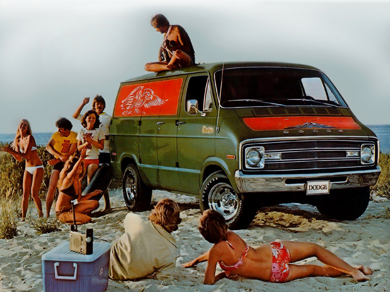 lostin70s:  1979 Dodge B100 VanThis is the life!