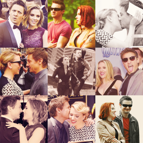 "fangirl challenge 2/15 friendships → scarlett johansson and jeremy renner ""She makes me want to be more of a man."""