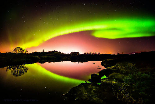 Le perfect, Northern lights in Iceland.