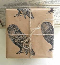 ignitelight:  (via Nice Package / barn owl rustic bird gift wrap by handmade and heritage) Nice indeed.