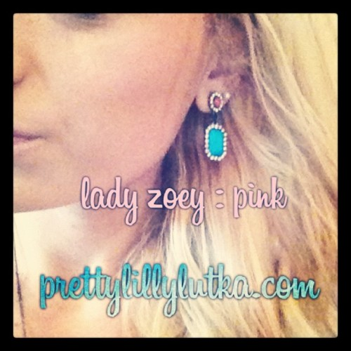 "Living these "" lady zoey :pink "" earrings! I feel so pretty! Check them out in the store, I've got 3 other colors to choose from! prettylillylutka.com #pretty #prettylillylutka #earrings #accessories #loveit #blonde #girl #gift #shop #fashion #style #stylist"