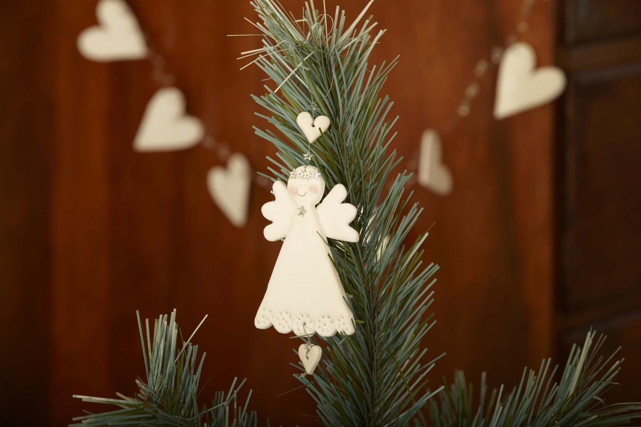 Our darling Angel Resin Decoration. Perfect at the top of the tree!