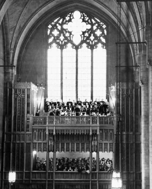 Choristers in Rockefeller Chapel, undated.