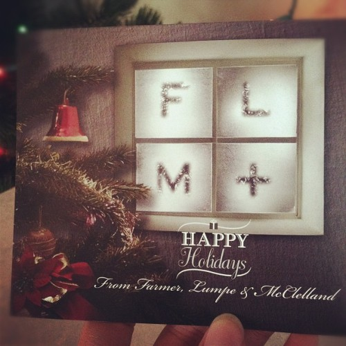 We just got the Holiday cards I made for FLM!