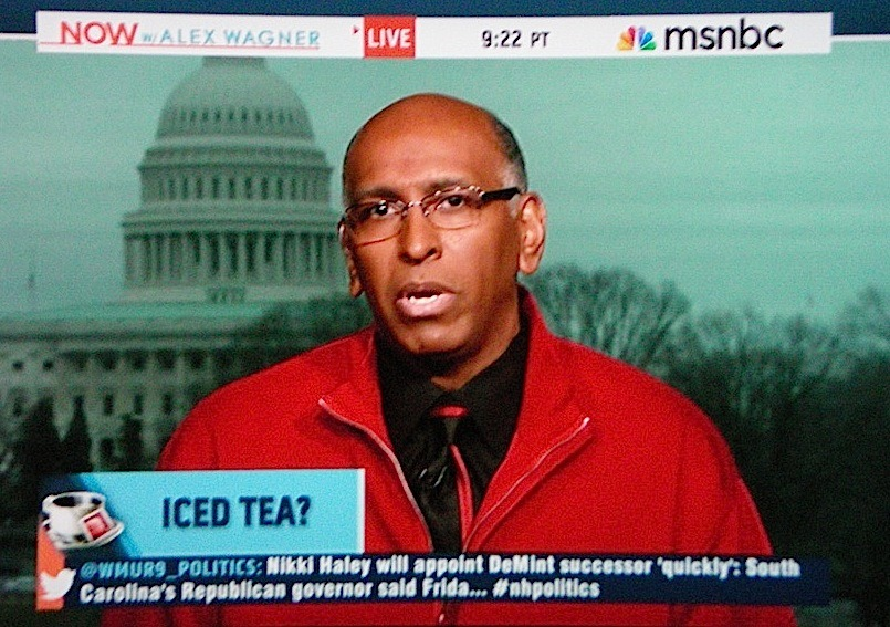WTF is Michael Steele wearing?