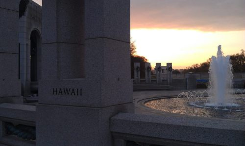 The Tragedy at Pearl Harbor happened on this date in 1941. We thought we would share this picture of the World War II Memorial in Washington, DC as we remember those brave men and women who lost their lives on that terrible day.Photo: National Park Service
