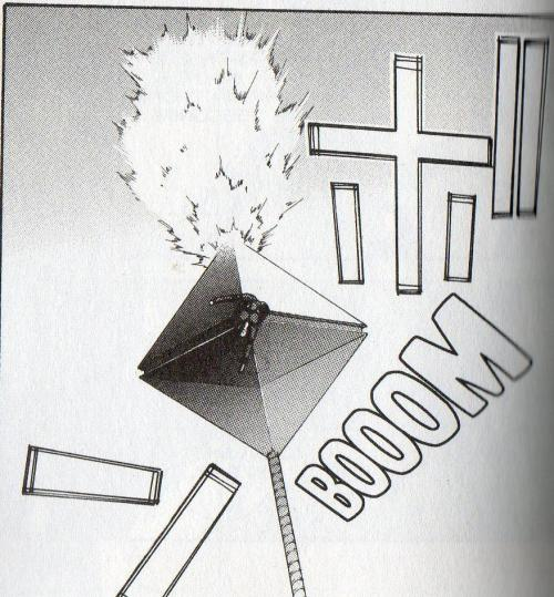 thecosmosowl:  strikerougemk2:  titrationator:  Gendou Ikari vs Ramiel in Shinji Ikari Raising Project Vol 12  OH MY GOD WHAT  I don't even know what to say.