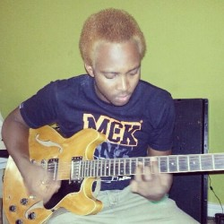 Jamming with a 1992 baby  #me #self #instapic #jamming #music #guitar #instagram #picoftheday #caption #this #ginger #yamaha #1992 #family #heirloom
