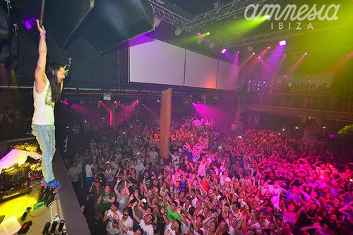 Steve Aoki at Amnesia in Ibiza. Image courtesy of Amnesia Ibiza on Flickr