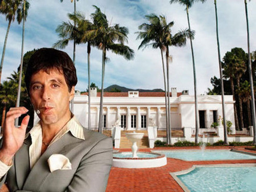 Scarface movie image of Tony Montana's Mansion in Miami