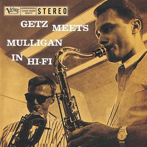 theniftyfifties:      Stan Getz and Gerry Mulligan — That Old Feeling - 1957     (Source: rogerwilkerson, via oldfilmsflicker)