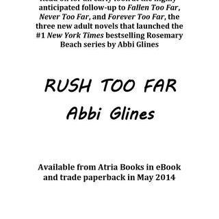 Rush too far excerpt by abbi glines simon schuster canada fandeluxe Choice Image