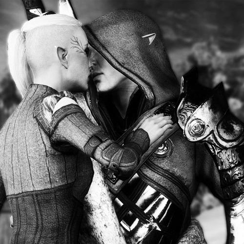 Dread Wolf falling in love - First Kiss