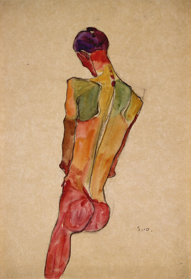 minujin:  highfivingfly:  Egon Schiele - Male Nude, Back View