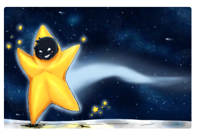 Someone just drew up the star dude, and wanted color. My love for making starry skies exploded all over this~