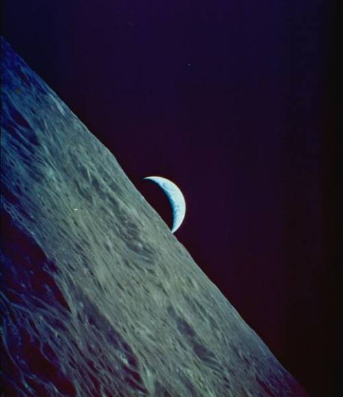 That's no moon :) From the LIFE archive at Google Images. Take a gander (no goose jokes, please).