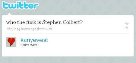 iammattjordan:  BEST TWITTER EVER. In response to Stephen Colbert's Operation Humble Kanye.  LAUGHOUTFUCKINGLOUD