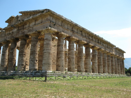 The youngest of the three temples at Paestum.