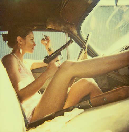 gun: Description: Neil Krug polaroids May 2009 Unicorns polaroid fantasy