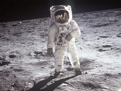Photographs of astronauts walking on the moon are a marvelous testament to one of human kind's great journeys yet for all their beauty these photos are no more than honest portrayals of what things looked like. In contrast the paintings of Alan Bean convey the human reality of what it felt like to be there in person.