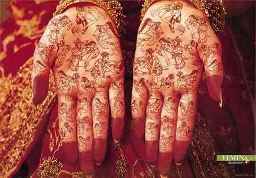 I have a feeling you won't be seeing this mehndi at a shaadi anytime soon..