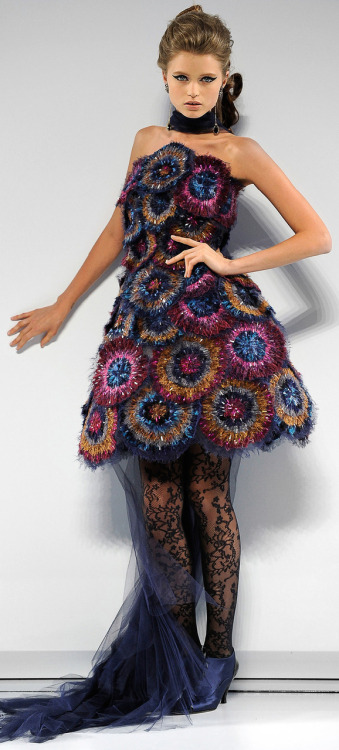 Wear this dress from the Chanel Couture Fall 2009 line and you would be perfectly dressed to figurehead a costumed Indian elephant: