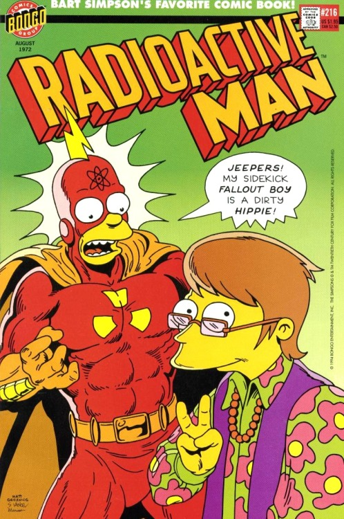 Radioactive Man #216 by Steve & Cindy Vance, Bill Morrison and Matt Groening