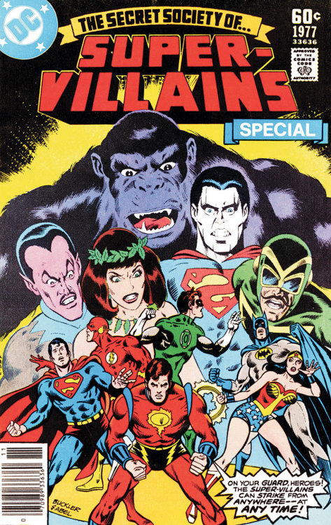 The Secret Society of Super Villains Special 1977 cover art by Rich Buckler and Jack Abel