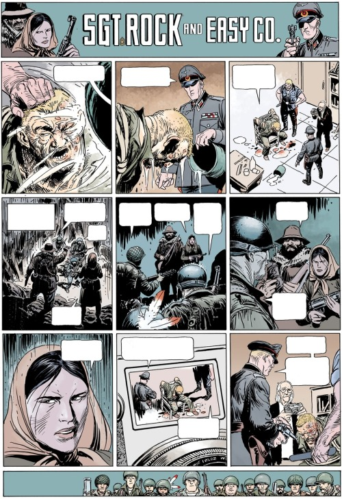 Wednesday Comics: Sgt. Rock by Andy and Joe Kubert via DCU: The Source blog