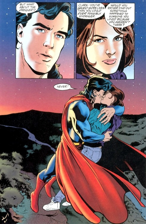 page from Adventures of Superman #525 by Karl Kesel, Stuart Immonen and José Marzan Jr.