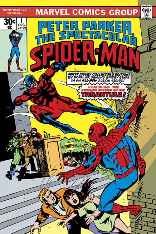 Peter Parker, The Spectacular Spider-Man #1 by Gerry Conway and Sal Buscema
